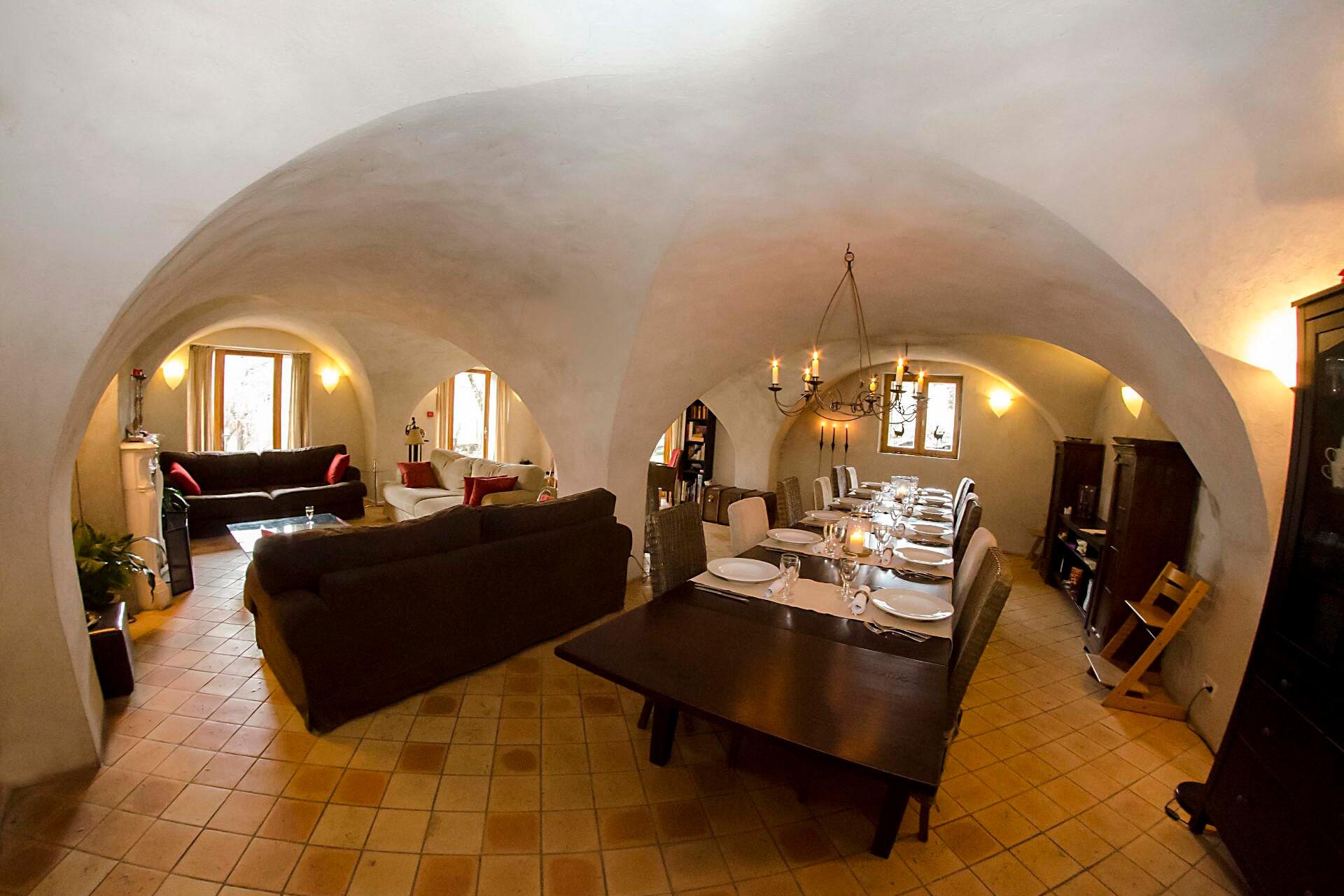 Chalet Solneige salon tafel