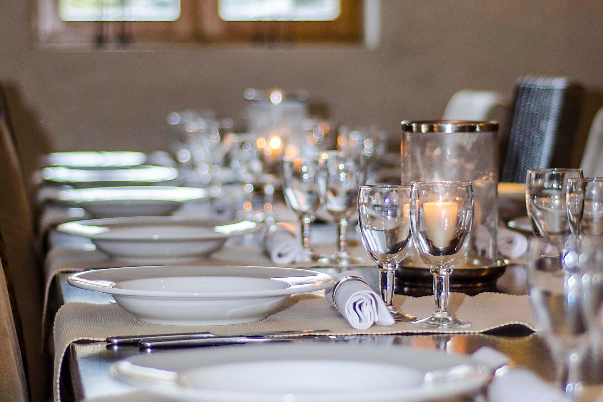 Chalet Solneige gedekte tafel